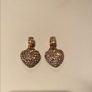 Zara Rhinestone Heart Earrings